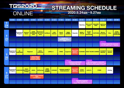 TGS 2020 Live Stream Schedule Revealed