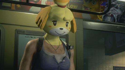 It begins.Resident Evil 3 mod adds a creepy Isabelle mask into the mix