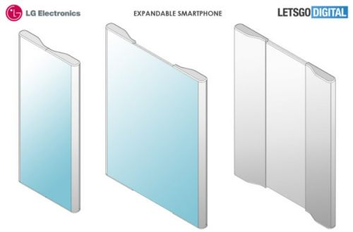 LG Patents Handset With Extendable Display That Doubles Screen Surface