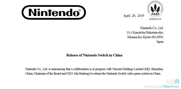 Nintendo Officially Confirms Tencent Partnership For Switch Release In China