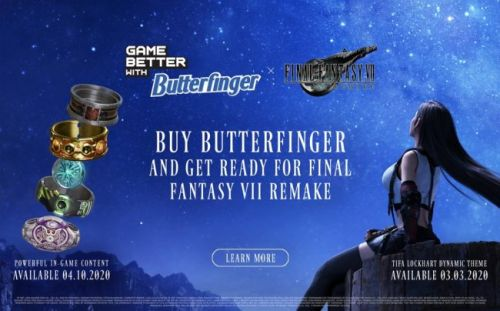 Get Final Fantasy VII Remake DLC by Buying Butterfinger Candy Bars
