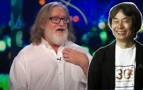 """Gabe Newell says Miyamoto's games are """"a lot of fun"""" and made him a better developer"""