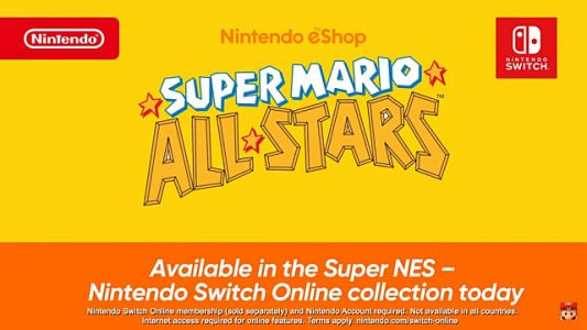 The Original Super Mario All-Stars is on Nintendo Switch Online