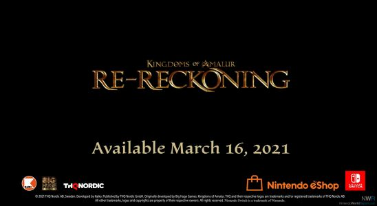 Kingdoms Of Amalur: Re-Reckoning Stabs March 16 Release Date