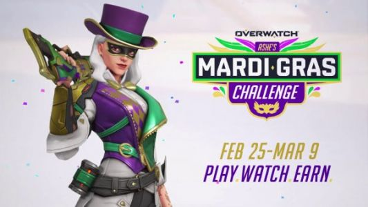 Overwatch players can participate in Ashe's Mardi Gras Challenge to earn Ashe's new skin