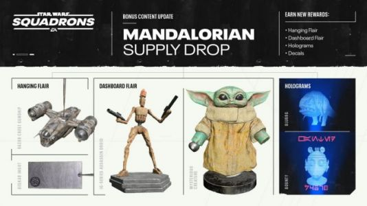 The Mandalorian DLC Puts 'Baby Yoda' on Your Star Wars Squadrons Ship's Dash, But No New Maps, Ships, or Modes