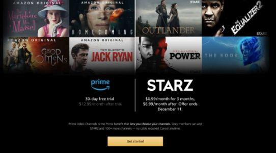 Sign Up For STARZ On Prime Channels & Get Three Months For $0.99