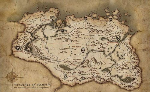 If Skyrim's map really is based on Ireland, I grew up in the dullest Hold
