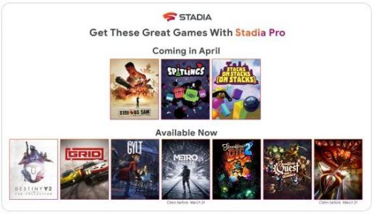 Stadia announces April free Pro Games; release dates for The Crew 2 and Lost Words