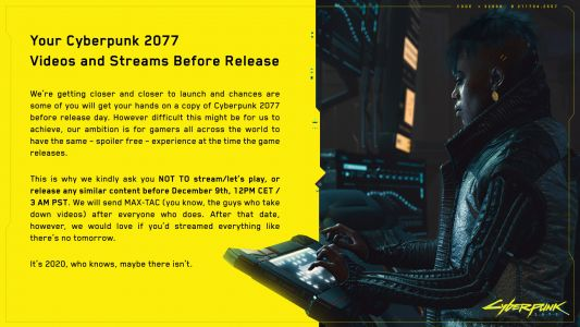 Cyberpunk 2077 streams and Let's Plays will be taken down ahead of release