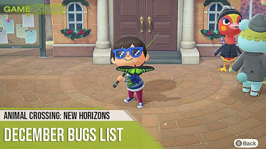 Animal Crossing: New Horizons Bugs List For December 2020