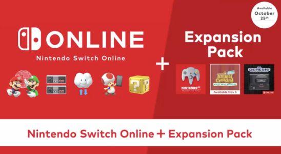Nintendo Switch Online Expansion Pack Launches 10.25