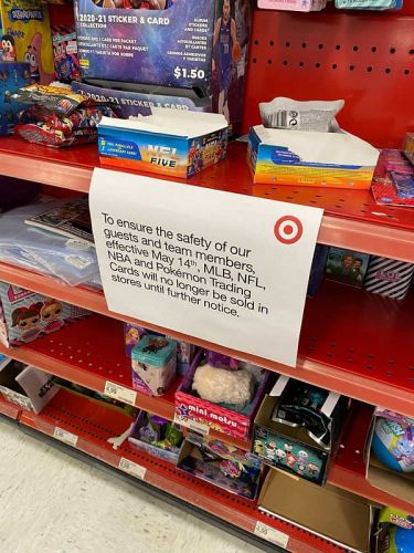 Target Suspends The Sale Of Trading Cards For The Safety Of Staff And Customers