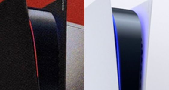 Black PS5 With Red Lighting Supposedly Leaked in Promo Image, but it's Just a Stolen Fan Edit