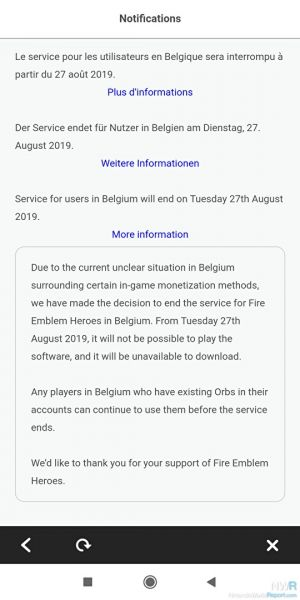 Fire Emblem Heroes, Animal Crossing Pocket Camp To Stop Service In Belgium August 27
