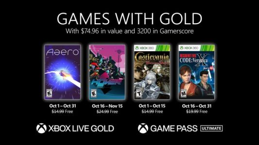 Xbox Games With Gold October 2021 Free Games Revealed