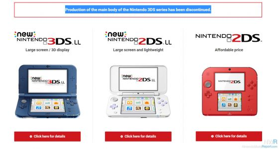 Nintendo Announces End Of Production For 3DS Family Of Systems