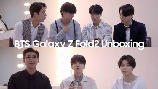 Here's Your Favorite K Pop Group Unboxing The Samsung Galaxy Z Fold 2