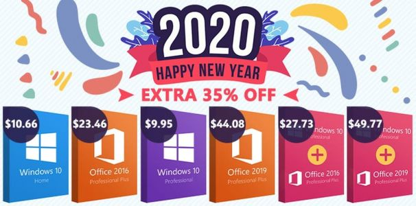 New Year, New Deals: Windows 10 Pro $9.95, office 2016 $23.46 with 35% EXTRA code!