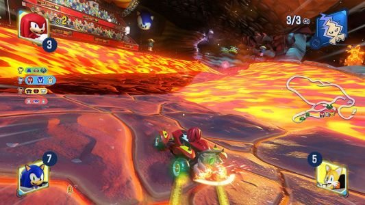 Rip through fire & ice on Team Sonic Racing's new tracks