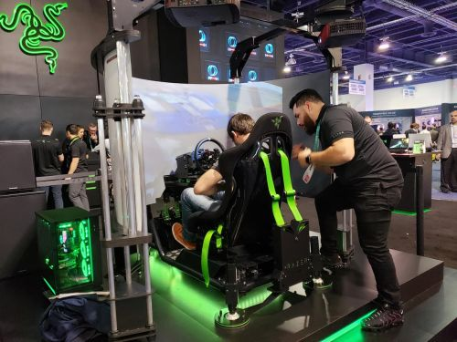 CES 2020: Razer goes small with their Tomahawk and goes big with their E-racing sim