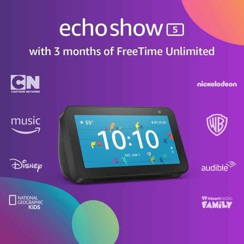 Buy An Echo Show 5 & Get 3 Months Of Freetime Unlimited