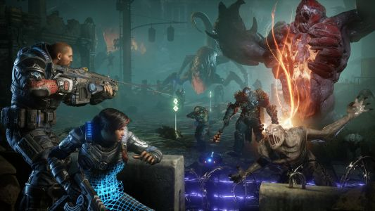 Gears 5 Horde Gameplay Showcases Skill Upgrades, Boss Wave