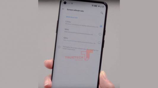 Sketchy OnePlus 8 Pro Image Shows 120Hz Refresh Rate Option