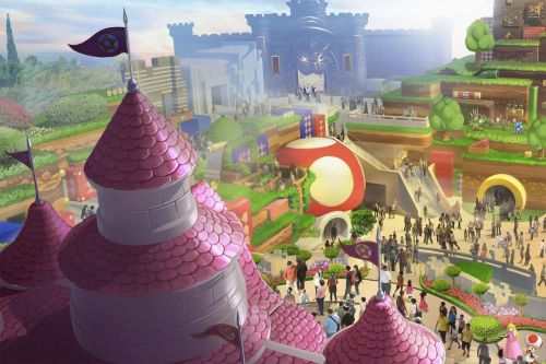 Super Nintendo World is coming along nicely, but its opening is obviously delayed