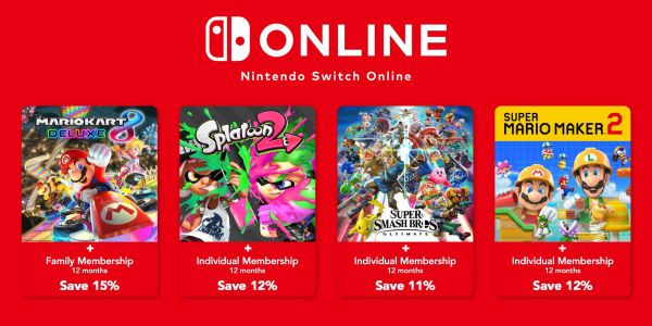 Nintendo is bundling Switch Online membership with a few major games