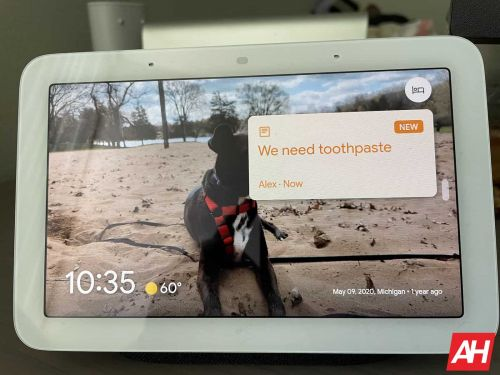 How To Create A Family Note On Google Nest Hub