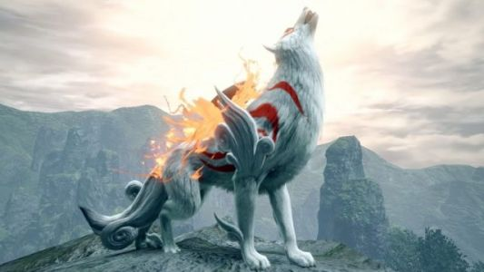 Ōkami's Amaterasu Comes to Monster Hunter Rise as a Special Palamute