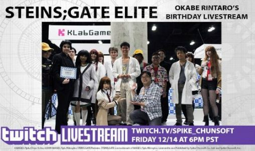 Spike Chunsoft is Running a Special Steins;Gate Elite Livestream
