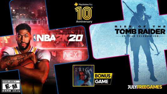 NBA 2K20, Rise of the Tomb Raider and Erica Free With PlayStation Plus in July