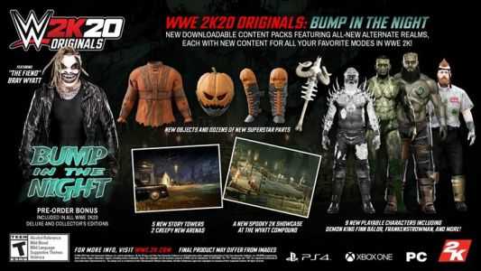"""The Fiend"" Bray Wyatt headlines the first WWE 2K20 DLC pack ""Bump in the Night"""