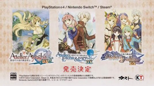 Atelier Dusk Trilogy Deluxe Pack announced for PS4, Switch, and PC